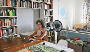 Natasha Wimmer in her apartment in New York