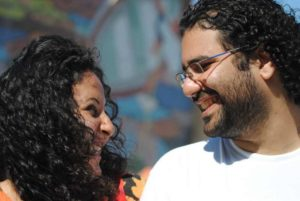 Alaa Abd El Fattah with his wife and intellectual partner, Manal Hassan. Photo by Lilian Wagdy via Wikimedia Commons (CC BY 2.0)