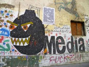 Street art from Mohamed Mahmoud Street, Cairo. (Photo: Melody Patry/Index on Censorship)