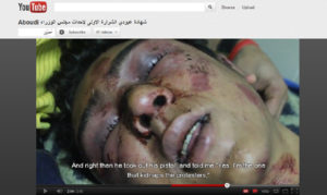Screen grab of a Mosireen clip released in the wake of the 16 December Cabinet sit-in crackdown