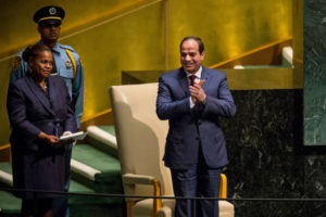 President Abdel Fattah el-Sisi of Egypt preparing to deliver a speech to the United Nations General Assembly last month. Credit Andrew Burton/Getty Images