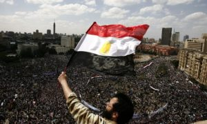 Tens of thousands of Egyptians demonstrate in Cairo's Tahrir Square in January 2011. Photograph: Misam Saleh/AFP/Getty Images