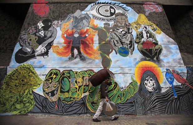 Graffiti on Mohamed Mahmoud street near Tahrir Square. Photograph: Amr Dalsh/Reuters